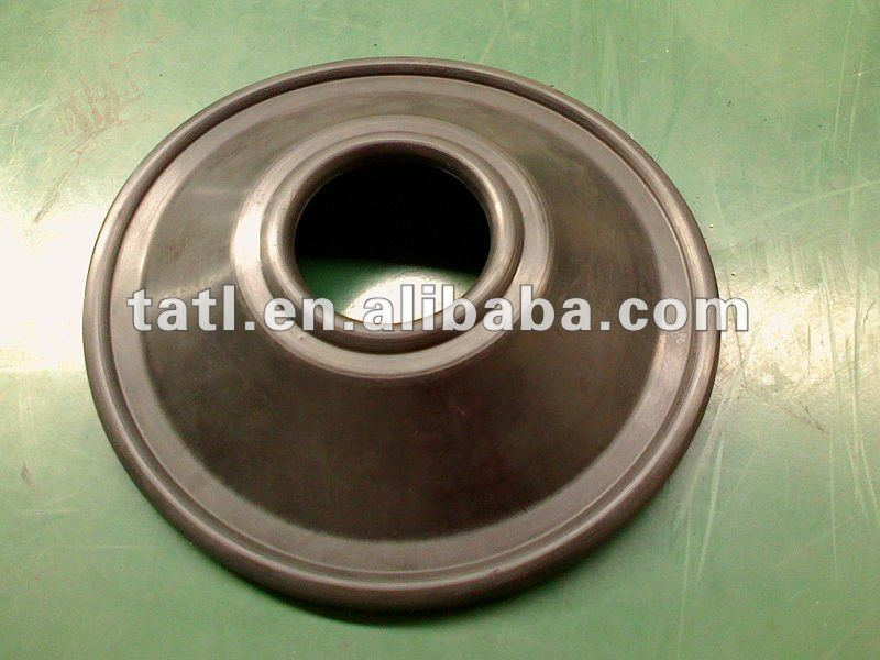 Black and white rubber Diaphragm washer