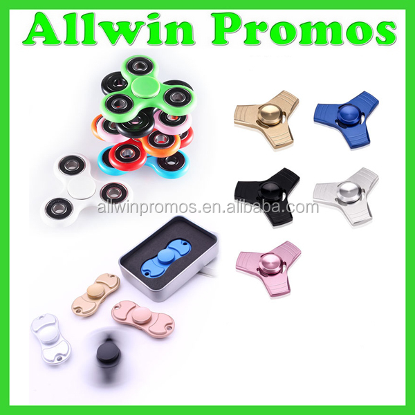 Aluminum Metal Fidget Spinner/Hand Spinner Toys/LED Light Finger Spinner Spinner