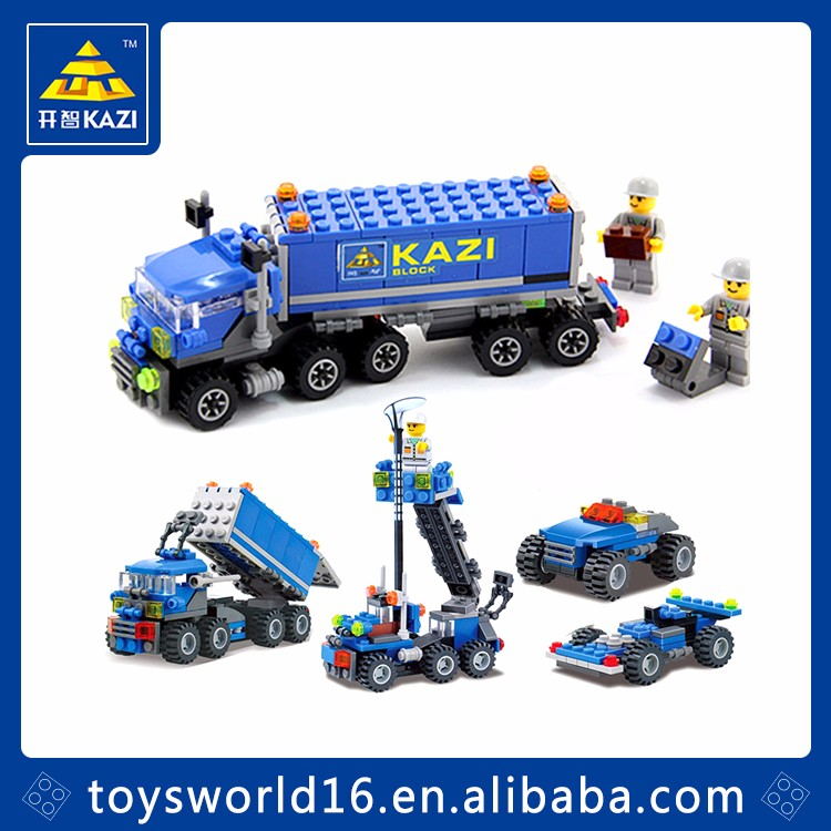 High quality 163pcs Small truck building blocks educational toys for kids