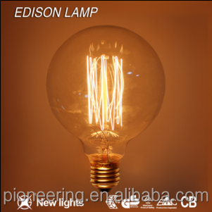 Decoration G95 Edison bulb E27 E26 B22 Vintage Antique light bulb G95 25/40/60W