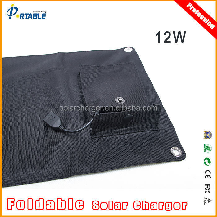12W Solar Panel Charger Bag for DVD and LED