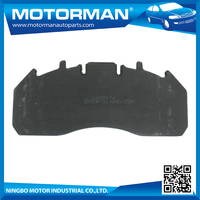 MOTORMAN 1 Year Warrantee stable auto parts brake pad toyota WVA29174 for Volvo Renault Scania Mercedes Benz Man Daf Iveco