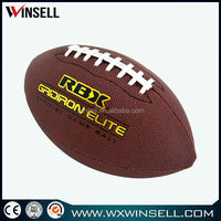 top sell new pattern customized design machine stitched rugby ball