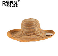 2015 fashion summer hat wholesale cheap lady paper straw hat