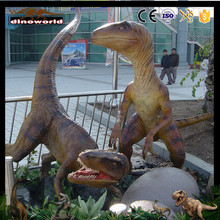 DW-1051 Playground Equipment Lifelike Fiberglass Raptor Dinosaur for Sale