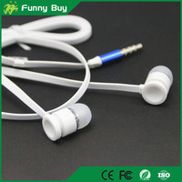 OEM High Quality Flat Earphone Headphone Earbuds with Mic