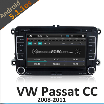 volkswagen passat car multimedia player with android 5.1.1 capacitive screen 1024x600pixes