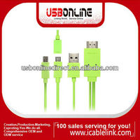 1.8m MHL to HDMI Adapter MHL Cable for Samsung Galaxy S4 i9500 Green