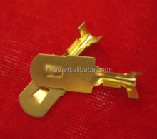 Chinese good quality metal stamped part OEM prototype brass stamping parts terminal electrical compnent clip