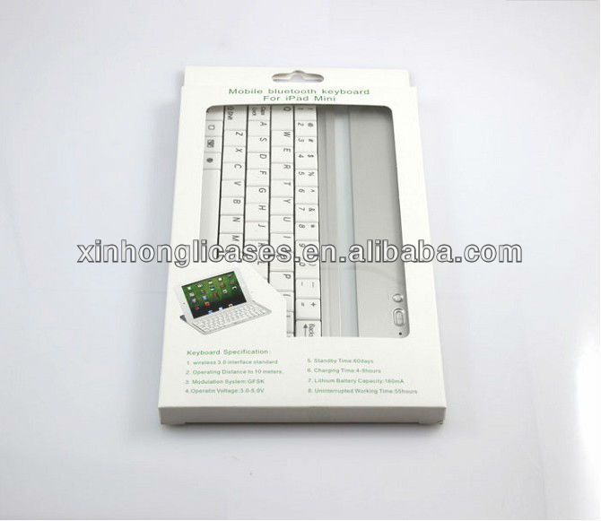 Mobile Bluetooth Keyboard Aluminium Case for iPad mini
