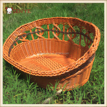 New Cool Summer Kennel Comfortable Custom indoor wicker Rattan Dog Bed Rattan dog house
