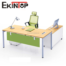 2018 steel frame double sided melamine office desk with locking drawers