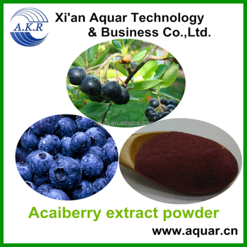 100% Factory supply Anthocyanosides Acai berry extract / Acai berry P.E. / Acai berry powder