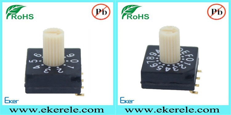 NKK Bremas 8 Position Rotary Switches Thru Hole Type