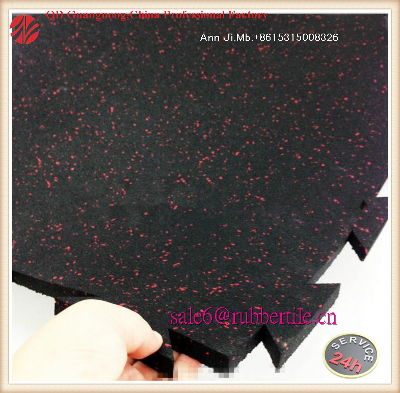 Environmentally Friendly Rubber Gym Mat Equipment Fitness Crumb Rubber Tiles Flooring