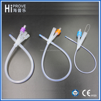 3 way all silicone urethral foley catheter for adult and children