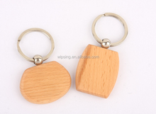 custom oval wood engraving keyrings promotional gift keychain for gift company