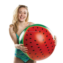 1pc MOQ Newest Swimming Pool Floating 90cm Watermelon PVC Inflatable Toys Beach Ball