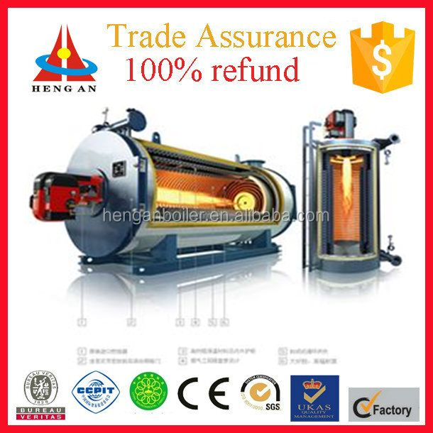industry 1000kw 1200kw 1400kw YY(Q)W horizontal natural gas oil diesel fried thermo oil boiler heater