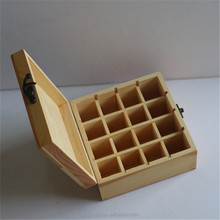 Wooden Essential Oil Bottle Storage Box Wooden Storage Box / Case / Chest for wholesale