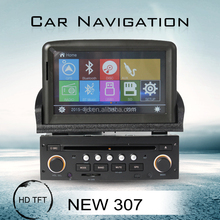 Hot car audio for Peugeot 307 Car DVD/mp3 player with GPS