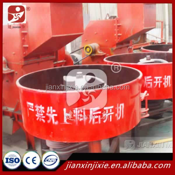 8HP mini diesel engine concrete pan mixer closely used in block making machine