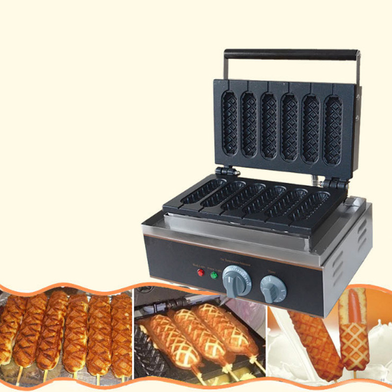 China french <strong>corn</strong> hot dog waffle stick maker electric hot snack vending machine