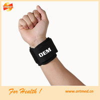 Factory price neoprene spring velcro wrist band for athletes