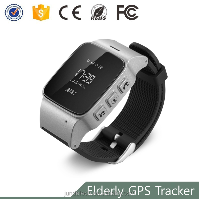 China long battery life gps tracker wristwatch for old people and parents