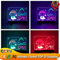 alibaba express new invention LED items transparent glass led writing board/mini led writing board/electronic advertising board