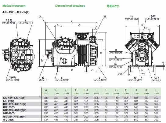 Price List Bitzer Compressor 4PES-15Y