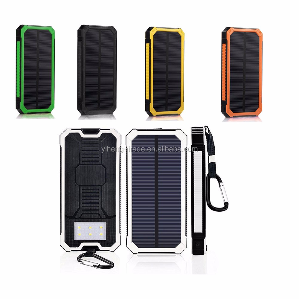 Universal portable solar power bank 8000mah cell phone battery charger