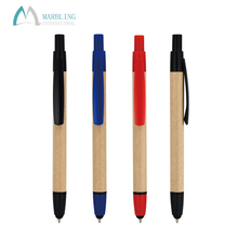 Marbling MPR026B-T Cheap Eco Friendly Recycled Paper Ballpoint Pen With Stylus