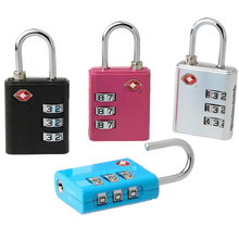 TSA-553 Hot Selling in stock cheap metal lock 3 digits tsa lock