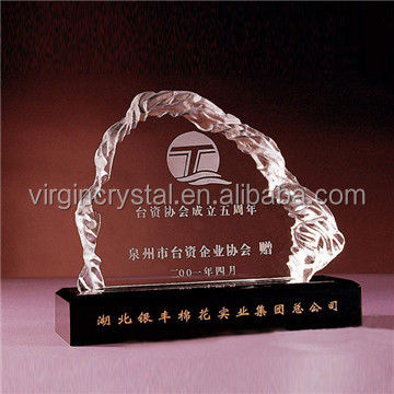 Cristal Laser Engraving Iceberg Blocks