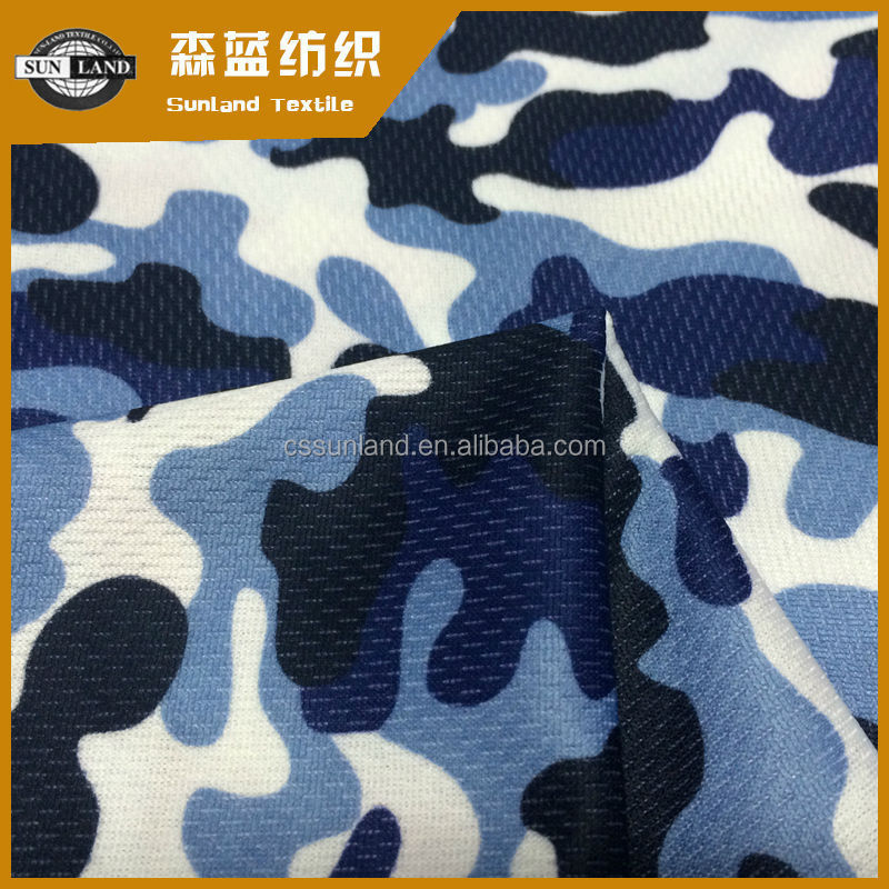 100% polyester print mesh fabric for military training suit