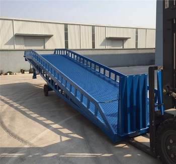 lift tables hydraulic mobile container load ramp with legs