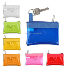 Hot selling Clear PVC zippered Coin purse Coin pouch