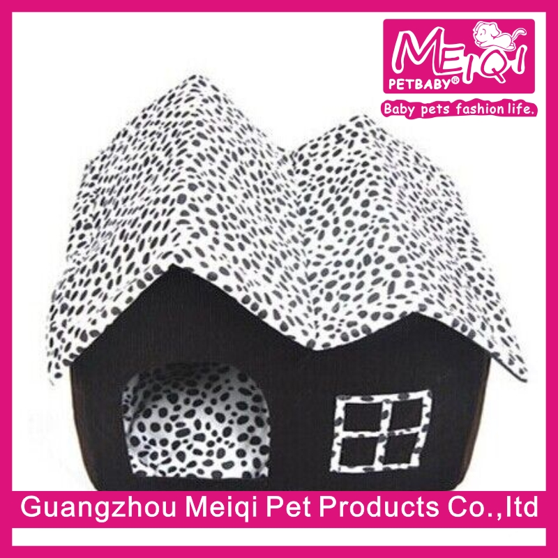 Hot sale Villa style cat house Soft fabric dog house patent double pet house