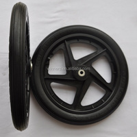 16 inch plastic golf push cart wheels