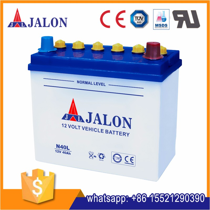 dry charged 12v 40ah N40 40b19l car battery