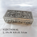 Zinc alloy 7.5 inches Rect.Shape Jewel Box & Ring Pad in Antique Finished