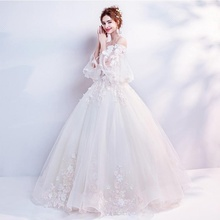 Suzhou Embroidery Princess Long Tail Bridal Ball Gown Wedding Dress