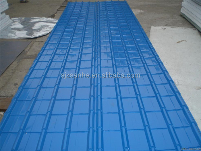 Polyster Coated Galvanized Steel Sheet Stone Coated Metal Roof Tile