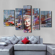 popular abstract printed canvas Monroe oil painting art sexy woman group painting wall decoration art