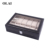 Wholesale high quality 6/10/12/20/24 slots pu leather watch collector storage box with glass window