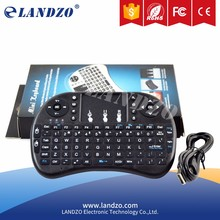LANDZO 2.4G RF Mini Wireless Handheld Keyboard Touchpad Raspberry Pi 2 Keyboard with Touchpad for RasPi2