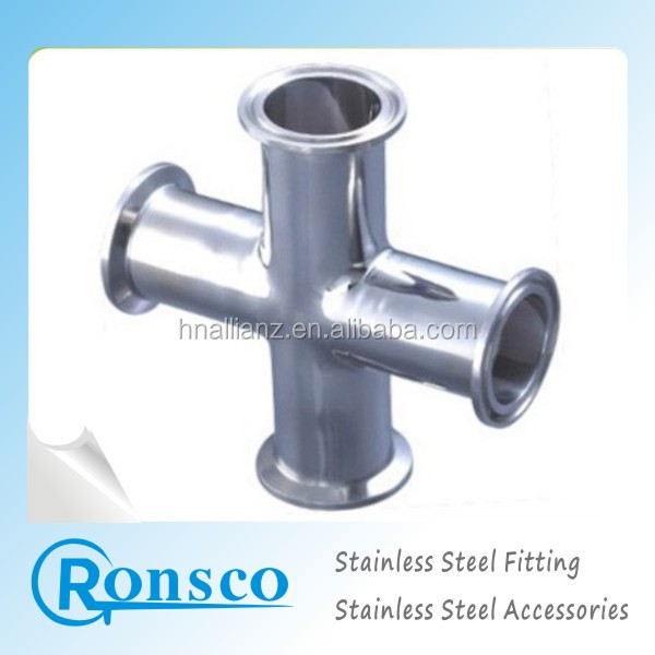 316l stainless steel drainage cross joint pipe fittings with competitive price