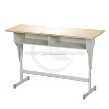High quality with competive price double students desk and chair school sets, school furniture