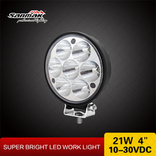 21w 4inch Small Round LED Truck Light 24v Waterproof Car LED Light